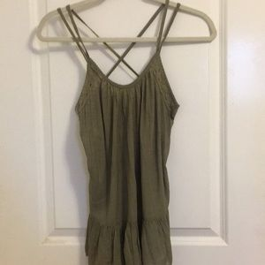 Melrose and Market olive green strappy peplum tank